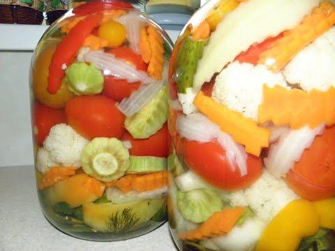 Овощное ассорти. заготовки на зиму