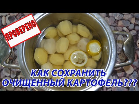 Как сохранить очищенную картошку? Почему очищенная картошка (картофель) темнеет (чернеет)?