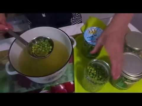 Быстрый способ приготовления на зиму консервированного зеленого горошка без стерилизации .