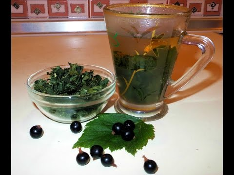 Чай из листьев черной смородины