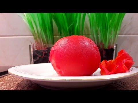 Как очистить помидор. Как быстро снять кожуру с помидора.