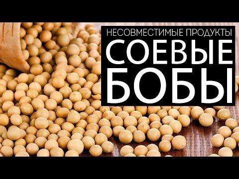 Несовместимые продукты. Соевые бобы