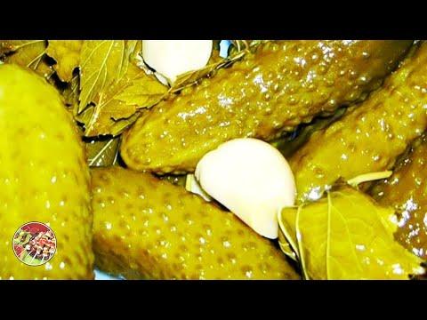 Хрустящие солёные огурчики на зиму..Просто, вкусно, и даже роскошно!