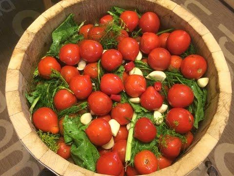 Бочковые квашеные помидоры. Рецепт