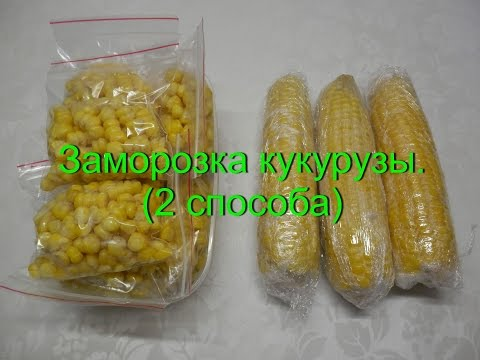 Как заморозить кукурузу на зиму (2 способа) | Заморозка овощей