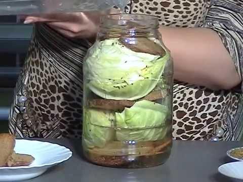 Квашеная капуста в банке, по вкусу как бочковая! Необычный, но простой рецепт .