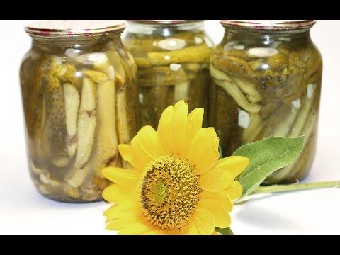 Огурцы в чесночном маринаде (заготовки, консервация, закрутки)