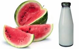 Совместимость арбуза с молоком и другими продуктами