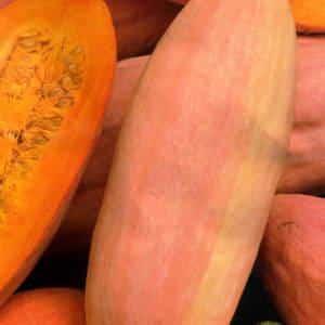 """Экзотический овощ с необычным вкусом и названием - тыква """"Розовый банан"""": описание сорта"""