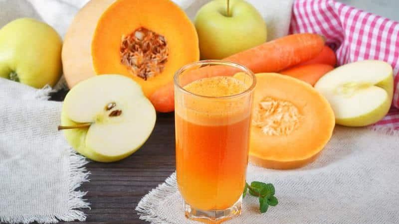 Сок из тыквы и моркови в домашних