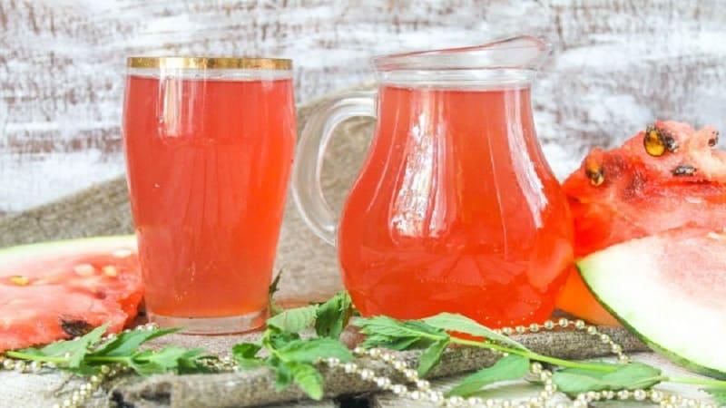 Как сварить вкусный и полезный компот из арбуза: лучшие рецепты освежающего напитка и заготовок на зиму