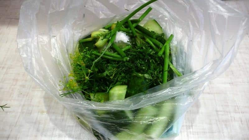 Как приготовить маринованные огурцы в пакете быстро и вкусно