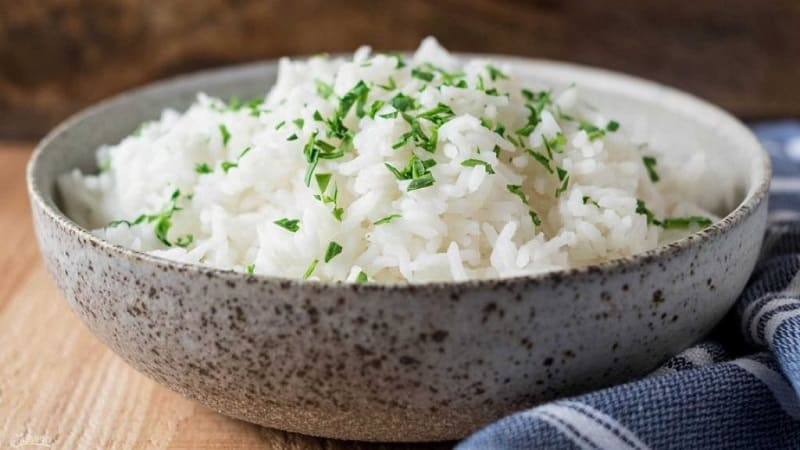 Калорийность отварного риса без масла