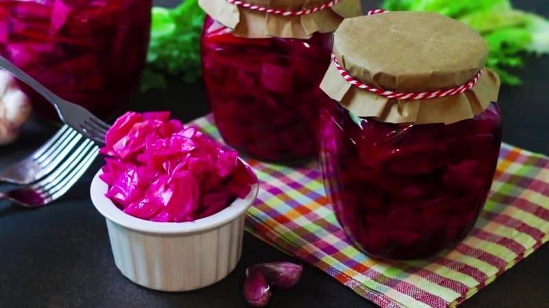 Вкусные рецепты квашеной капусты со свеклой без уксуса