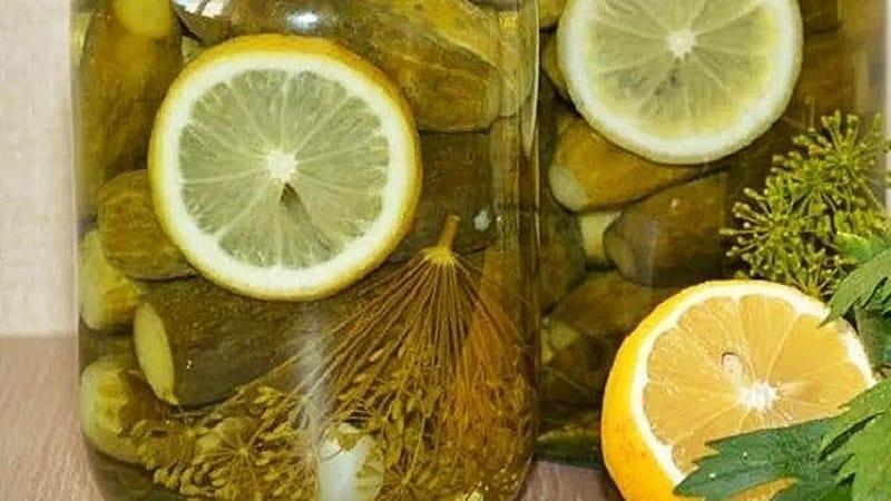 Рецепты вкусных заготовок огурцов с лимоном на зиму в литровых банках