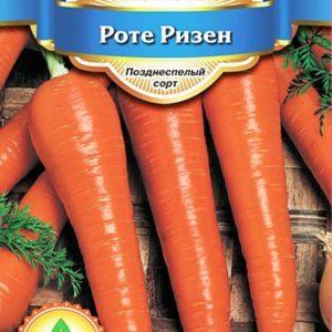 Особенности сорта моркови Роте Ризен: описание, агротехника, отзывы