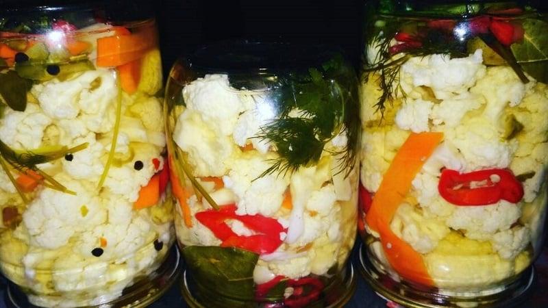 Цветная капуста на зиму – пальчики оближешь (рецепты маринования и соления)