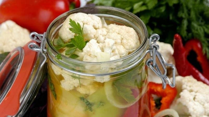 Цветная капуста на зиму: простые рецепты приготовления вкусных заготовок без стерилизации