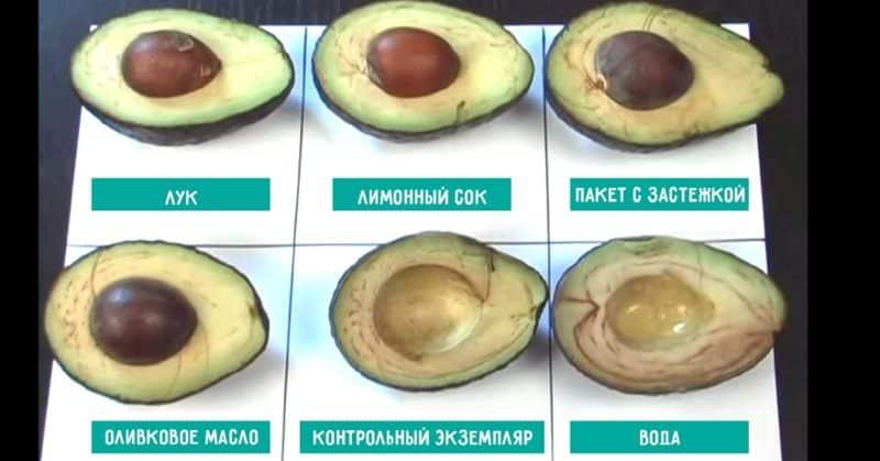 Как правильно хранить разрезанный авокадо