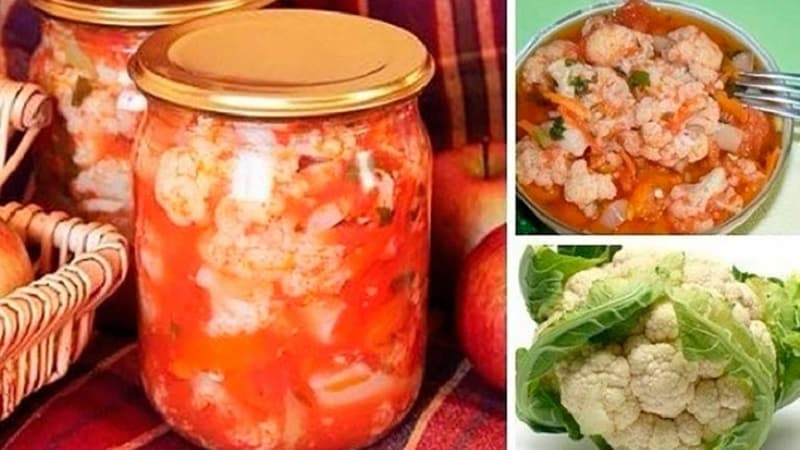 Простые рецепты очень вкусной цветной капусты в аджике на зиму