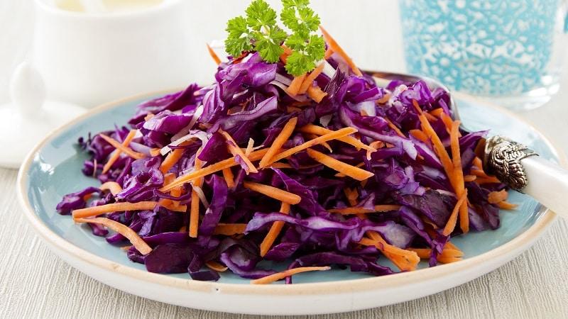 Рецепты быстрого приготовления красной капусты