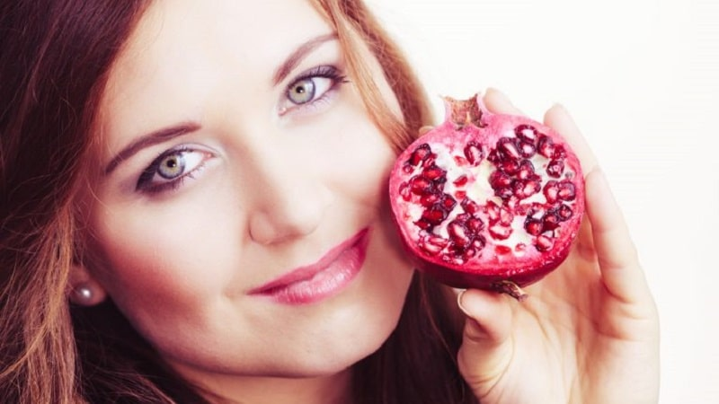 В чем польза граната для организма женщины?
